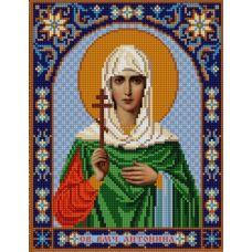 Ткань для вышивания бисером Святая Антонина, 20х25, Конек
