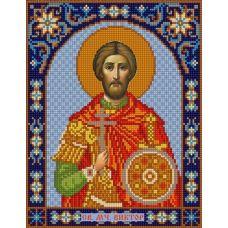 Ткань для вышивания бисером Святой Виктор, 20х25, Конек
