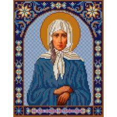 Ткань для вышивания бисером Святая Ксения, 20х25, Конек
