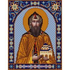Ткань для вышивания бисером Святой Даниил, 20х25, Конек