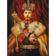 Ткань для вышивания бисером Николай второй, 29x39, Конек