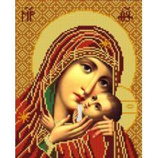 Ткань для вышивания бисером Богородица Касперовская, 20х25, Конек