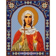 Ткань для вышивания бисером Святая Христина, 20х25, Конек