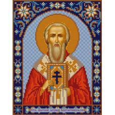 Ткань для вышивания бисером Святой Анатолий, 20х25, Конек