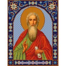 Ткань для вышивания бисером Святой Андрей, 20х25, Конек