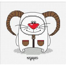 Набор для вышивания Кошачий гороскоп. Козерог, 13x12, Овен
