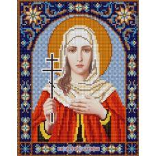 Ткань для вышивания бисером Святая Лариса, 20х25, Конек