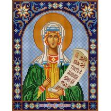 Ткань для вышивания бисером Святая Дарья, 20х25, Конек