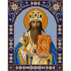 Ткань для вышивания бисером Святой Василий, 20х25, Конек