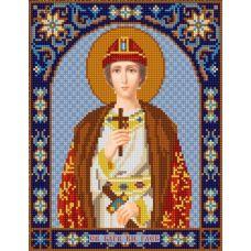 Ткань для вышивания бисером Святой Глеб, 20х25, Конек