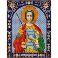 Ткань для вышивания бисером Святой Георгий, 20х25, Конек