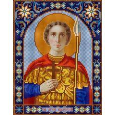 Ткань для вышивания бисером Святой Валерий, 20х25, Конек