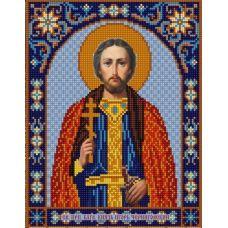 Ткань для вышивания бисером Святой Игорь, 20х25, Конек