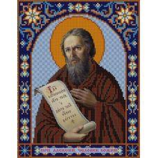 Ткань для вышивания бисером Святой Алексей, 20х25, Конек