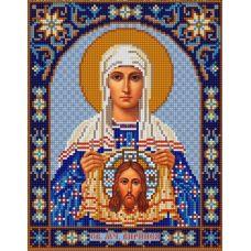 Ткань для вышивания бисером Святая Вероника, 20х25, Конек