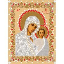 Ткань для вышивания бисером Богородица Казанская, 29x39, Конек