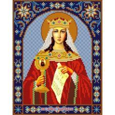 Ткань для вышивания бисером Святая Варвара, 20х25, Конек