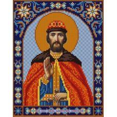 Ткань для вышивания бисером Святой Дмитрий, 20х25, Конек