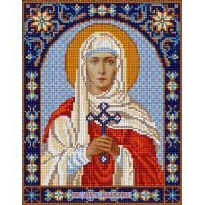 Ткань для вышивания бисером Святая Валерия, 20х25, Конек