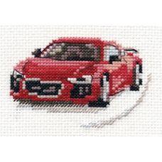 Вышивка Красный спорткар, 9x6, Алиса