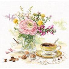 Вышивка Утренний кофе, 23x22, Алиса