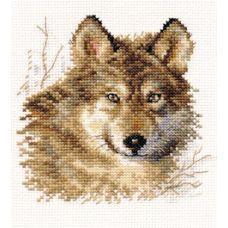 Вышивка Волк, 12x12, Алиса