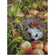 Картина по номерам Яблочный ёжик, 30x40, Белоснежка