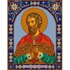 Ткань для вышивания бисером Святой Артемий, 20х25, Конек