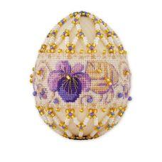 Набор для бисероплетения Яйцо. Фиалки, 6х4,5, Риолис