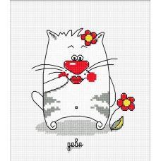 Набор для вышивания Кошачий гороскоп. Дева, 10x12, Овен