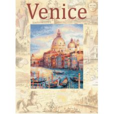 Набор для вышивания Города мира. Венеция, частичная вышивка, 30x40, Риолис, Сотвори сама
