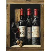 Картина по номерам Коллекционное вино, 30x40, Белоснежка