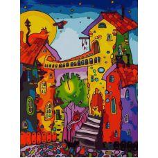 Картина по номерам Цветные коты, 30x40, Белоснежка