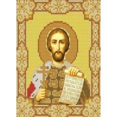 Ткань для вышивания бисером Святой Александр Невский, 15х18, Конек