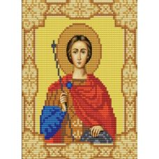 Ткань для вышивания бисером Святой Дмитрий, 15х18, Конек