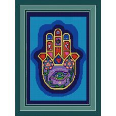 Ткань для вышивания бисером Хамса (Рука Бога), 39х29, Конек