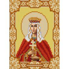Ткань для вышивания бисером Святая Людмила, 15х18, Конек