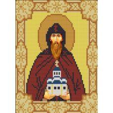 Ткань для вышивания бисером Святой Даниил, 15х18, Конек