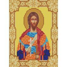 Ткань для вышивания бисером Святой Никита, 15х18, Конек