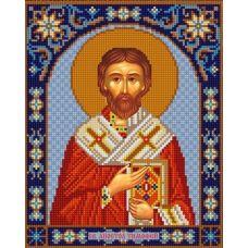 Ткань для вышивания бисером Святой Тимофей, 20х25, Конек