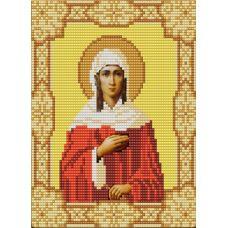 Ткань для вышивания бисером Святая Ксения, 15х18, Конек