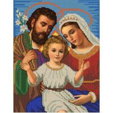 Ткань для вышивания бисером Святое семейство. Голубой фон, 23х30, Конек