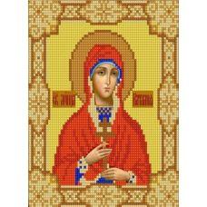 Ткань для вышивания бисером Святая Наталья, 15х18, Конек