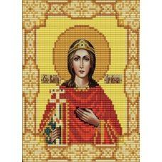 Ткань для вышивания бисером Святая Ирина, 15х18, Конек