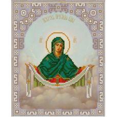 Ткань для вышивания бисером Богородица Покрова, 20х25, Конек