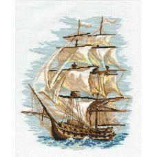 Набор для вышивания Корабль, 30x40, Риолис, Сотвори сама
