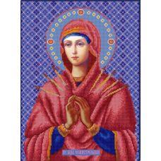 Ткань для вышивания бисером Богородица Семистрельная, 29х39, Конек