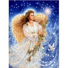 Ткань для вышивания бисером Рождественский Ангел, 29х39, Конек