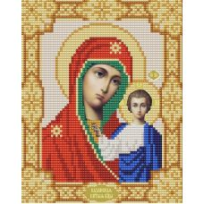 Ткань для вышивания бисером Казанская Богородица, 15х18, Конек