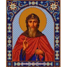 Ткань для вышивания бисером Святой Виталий, 20х25, Конек